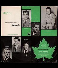 Vintage Square Cardboard PICTURE DISC Billy Graham Toronto Crusade & Envelope