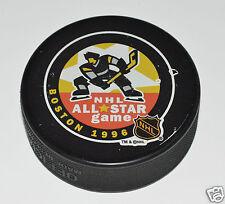 1996 NHL ALL-STAR GAME Boston Logo SOUVENIR INGLASCO PUCK Ray Bourque MVP Bruins