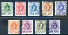 Swaziland 1937 Definitives perf 13½x13 to 2sh6d mint light hinge(2016/011/07#03)
