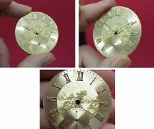 Antique Pocket Watch Movt, A. Droz,  41 MM (14-Size), Gold Dial, Engraved Scene