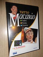 DVD TUTTO MACARIO LA RIVISTA E TU BIONDINA
