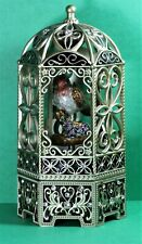 Vintage Ornate Bird Cage Music Box