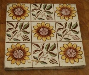 lovely morris style english victorian period tile arts and crafts
