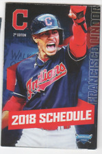 2018 CLEVELAND INDIANS TEAM POCKET SCHEDULE FRANCISCO LINDOR FREE SHIPPING