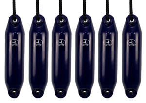 6 x HURRICANE Boat Fenders: Navy PM01 - FREE ROPE + INFLATED