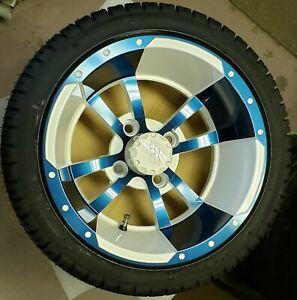 Golf Cart 12 inch Maltese Cross Offset Custom Color w/205/30-12 Deli Tire