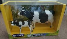 More details for rare breyer cow family no. 1732 2015 retired animals set cow and calf 1:9 cows