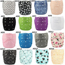 3 Adult Cloth Diapers Nappies Teen Reusable Washable Incontinence 18 Colors
