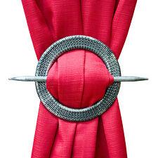 NEW Set of 2 Decorative Window Curtain Holdbacks,Tie-Backs - Round Braid