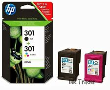 Genuine Original HP 301 Black & Colour Ink Cartridges for HP Deskjet 2540