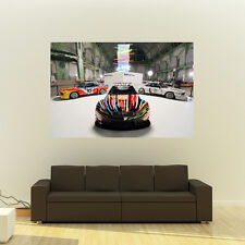 BMW M3 GT2 Art Car Giant Poster Race Car Huge Print 54x36 Inches