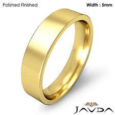 5mm 18k Yellow Gold Comfort Fit Men Wedding Band Pipe Cut Ring 8.4gm 12-12.75