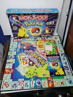 POKEMON Monopoly 1999 Collectors Edition Parker Brothers Board Game INCOMPLETE