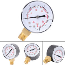 "1/4"" NPT Pressure Gauge Meter Air Compressor Pressure Manometer 0-4bar/0-60psi"