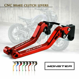 CNC Aluminum Long Adjustable Brake Clutch Levers for DUCATI 696 MONSTER 09-14