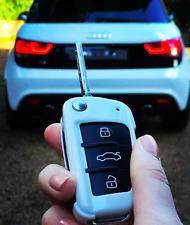Audi A3 8P A4 S4 RS4 A6 S6 RS6 A8 TT Q3 Q5 R8 Flip Key Hard Key Case Cover White