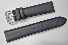 Apollo Navy Cinturino in pelle con fibbia INOX LUCIDO 20mm No.7301520