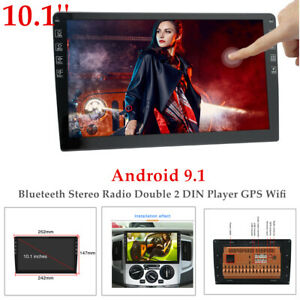 10.1'' Car Android 9.1 Blueteeth Stereo Radio 2DIN Player GPS Wifi Universal Kit