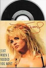 TATJANA - Just when i needed you most CD SINGLE 2TR DUTCH CARDSLEEVE 1993 RARE!!