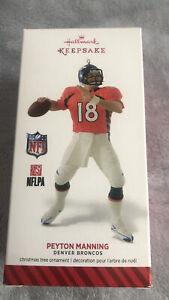 Peyton Manning Denver Broncos NFL Hallmark Keepsake Christmas Holiday Ornament