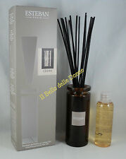 ESTEBAN Vaso diffusore profumo casa CEDRE cedro 75ml a bacchette con vaso vetro