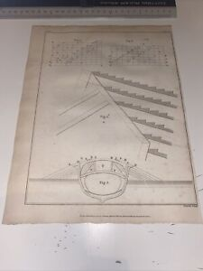1801 Original Antique Print Maritime Charnock