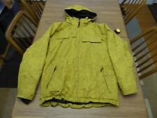Boulder Gear Yellow Pattern Jacket Insulated Ski Snowboard Winter Hooded Jacket
