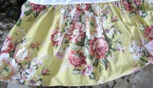 Vintage Ralph Lauren Sophie Brooke Yellow Floral bed skirt Western King CalKING