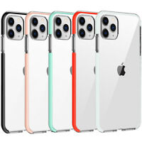 For iPhone 12 Pro Max 11 XR XS Max 7 8Plus Case Shockproof Clear Bumper Cover