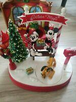 Disney Ruz Winter Magic animated scene with lights and music, Mickey and Minnie