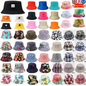 Mens Ladies Bush Festival Bucket Hat Fishing Sun Hats Beach Travel Beanie Cap UK