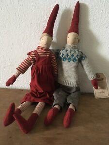 MAILEG Christmas Nisse Magnus-Marie 2erSet 2020 Stoff Weihnacht Advent Mediu