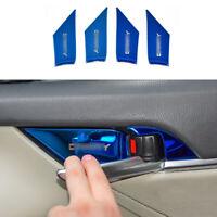 Blue Titanium Inner Door Bowl Sticker Trim 4pcs Fit for Toyota Camry 2018-2021
