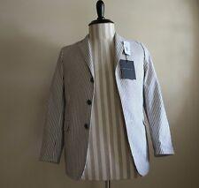 NWT John Varvatos Grey Pinstripe Sport Coat Size 14
