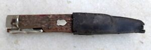Antique Rare Collectible Stage Horn Hilt Handle Lock Back Folding Knife Germany