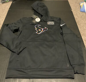 Houston Texans  2020 Nike Crucial Catch Hoodie BCA Men's Size: Large NWT NWT