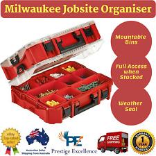 New Milwaukee Jobsite Organiser 48228030 Tool Case Storage 10 Bin Work Organizer