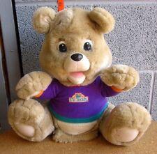 TEDDY RUXPIN electronic plush toy bear 1998 player TV robotic doll interactive