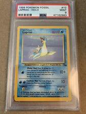 Pokemon PSA 9 Lapras Holo Rare 1999 Fossil 10/62 Mint WOTC Nintendo Clean