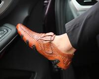 Chic Men's Leather Driving Casual Leisure Business Boots Loafer Shoes Ske15