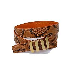 Handmade 32mm Genuine Python Skin belt strap Buckle Size 95 Free Shipping