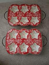 Set of 2 Temp-tations Floral Lace Star-Shaped Muffin Pans With Wire Racks