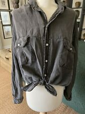 NSF Womens Tie Front Blouse XS