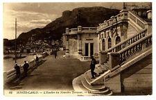 CPA 06 Alpes-Maritimes Monté-Carlo L'Escalier des Nouvelles Terrasses animé