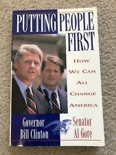 Putting People First: How We Can All Change America Book~Gov Bill Clinton~1992