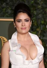 SALMA HAYEK - BUSTY - AMAZING CLEAVAGE - SEXY A4 SIZE GLOSSY PHOTO.