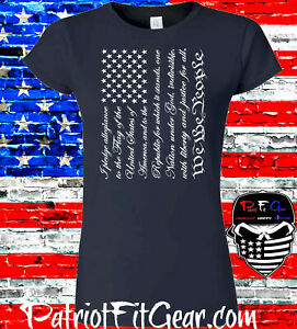 Womens t-shirt,Pledge Of Allegiance,We The People,Molon Labe,Dont Tread On Me