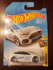 2018 Hot Wheels Ford Focus RS **Q Case KMart Exclusive** White HW Art Cars