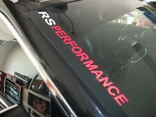 RS PERFORMANCE  Windshield Decal Chevrolet Camaro RS SS