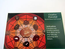 CREATIVE POTENTIAL Grid Card Healing Crystals QTY1 4x5inch Cardstock Vitality